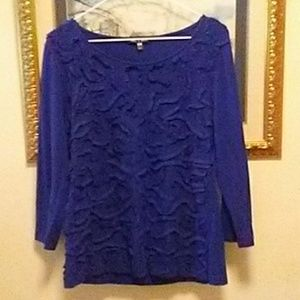 Cable and Gauge Royal Blue Top